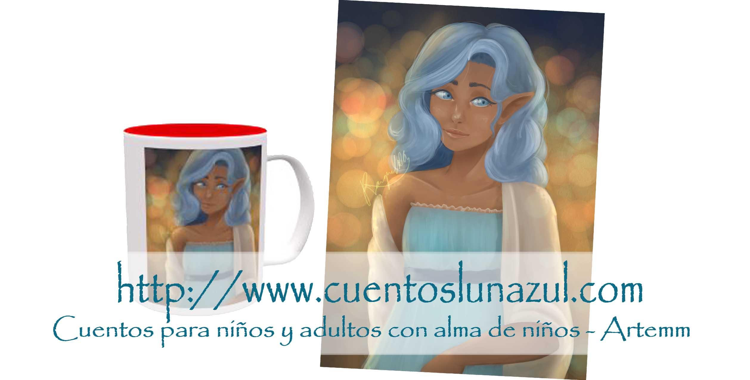 Taza Dama azul