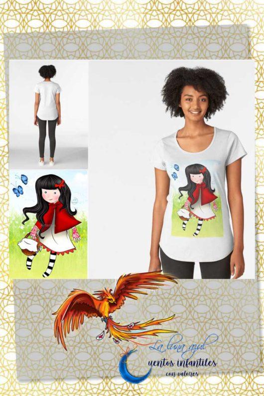 Camiseta mujer Caperucita roja